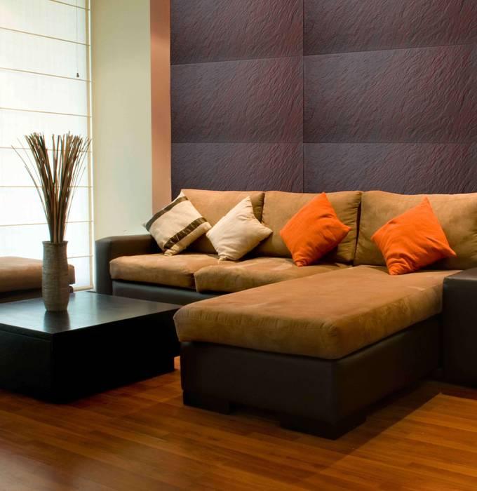 Piedra Sydney Paredes y pisos de estilo moderno de homify Moderno Aglomerado