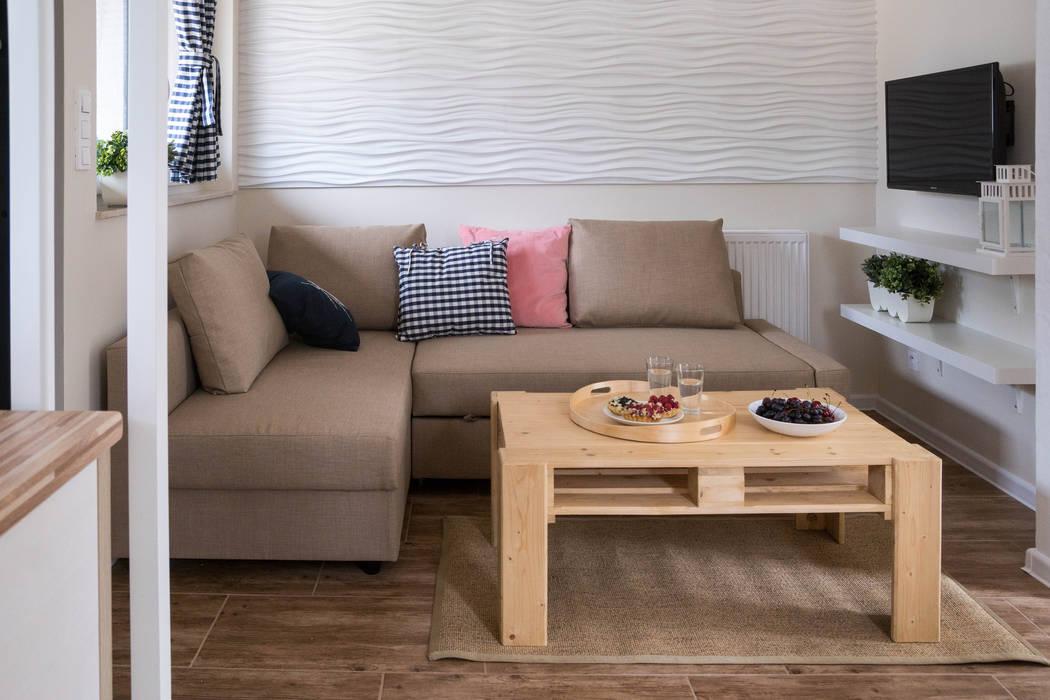 Domek - woda: styl , w kategorii Hotele zaprojektowany przez Ewa Weber - Pracownia Projektowa,Skandynawski