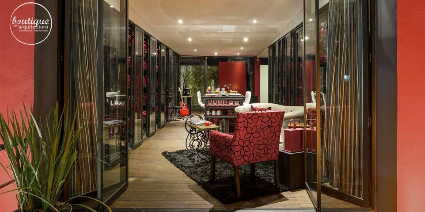 Estudio Coyoacan Salones modernos de Boutique de Arquitectura (Sonotectura + Refaccionaria) Moderno