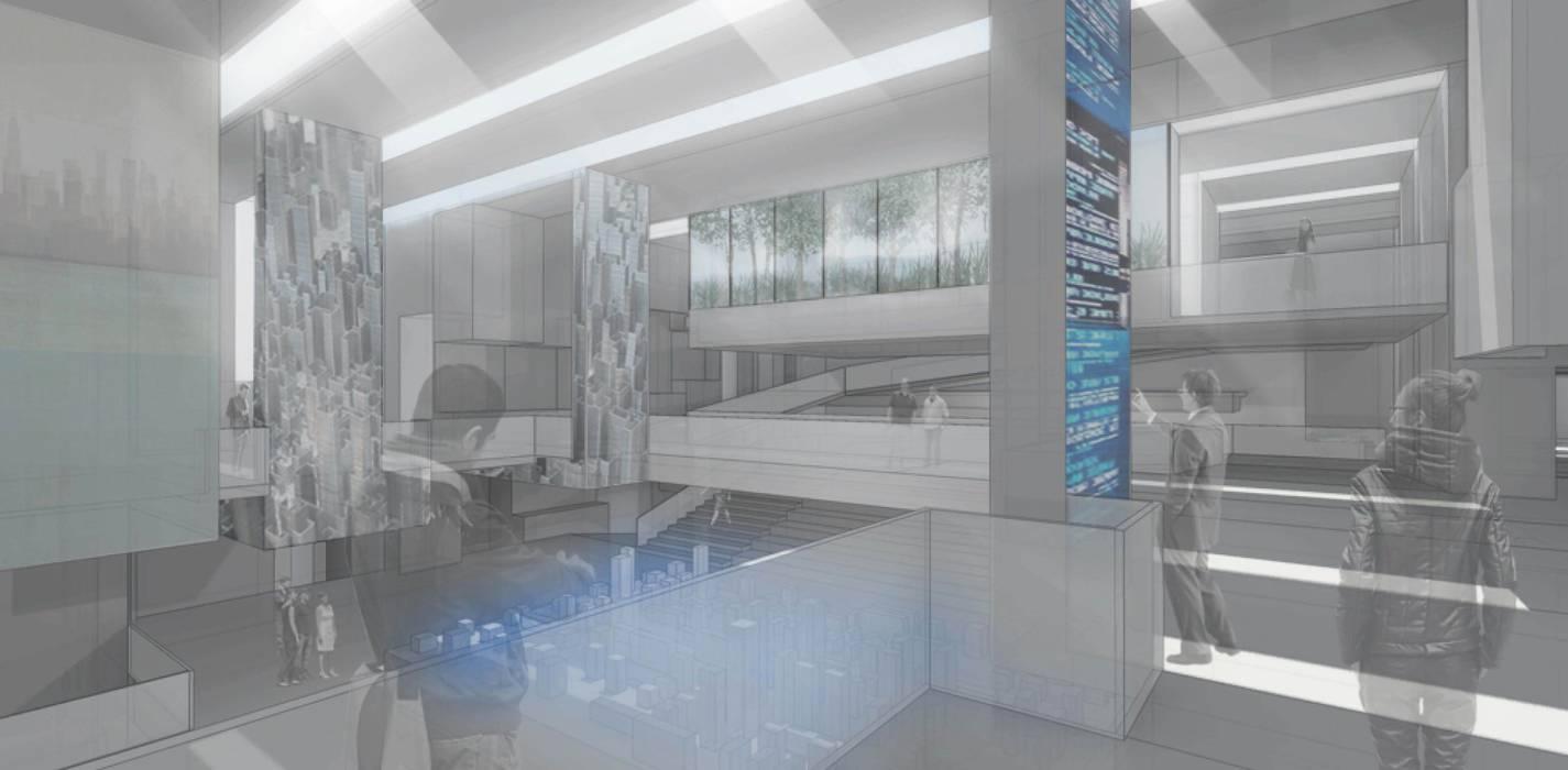 Exhibition Centre-Nanjing atelier blur / georges hung architecte d.p.l.g. Modern Interior Design