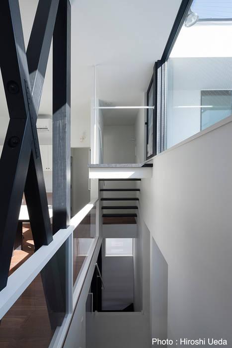 階段 モダンスタイルの 玄関&廊下&階段 の 石川淳建築設計事務所 モダン