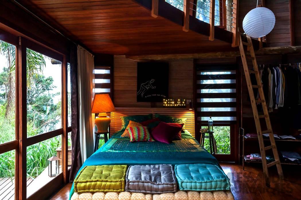 Casa da Floresta Quartos campestres por Ferraro Habitat Campestre