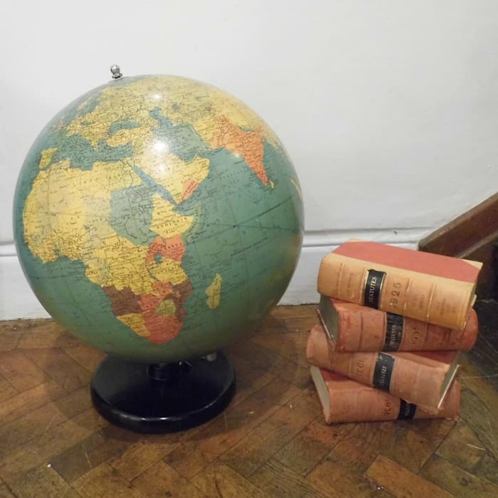 Huge Philips Globe Travers Antiques