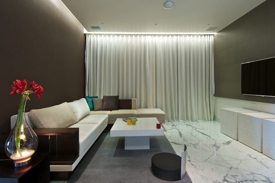 Home Theatre Room homify Minimalist living room