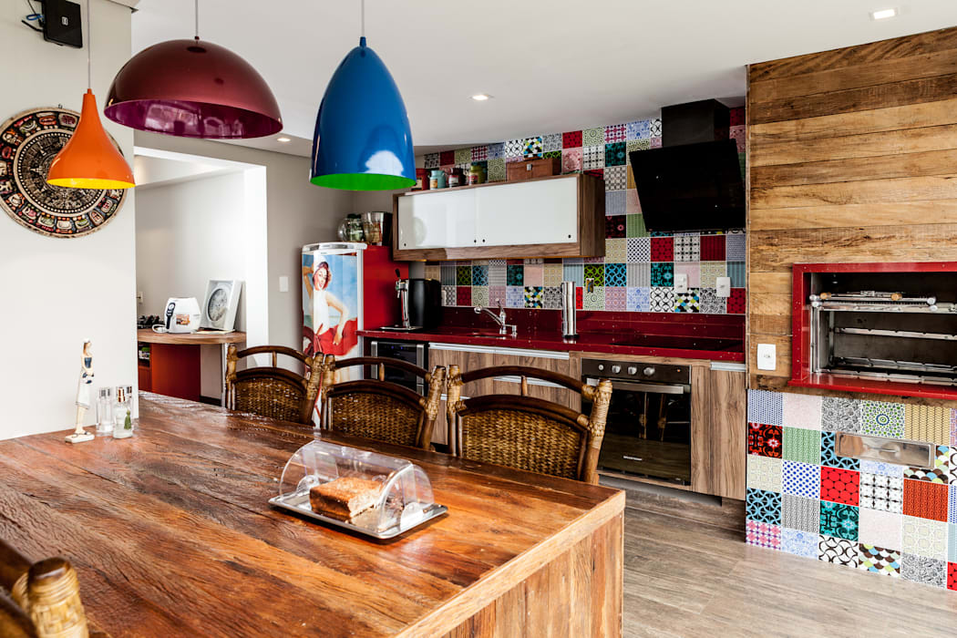 Jd. Marajoara Cozinhas rústicas por Tikkanen arquitetura Rústico
