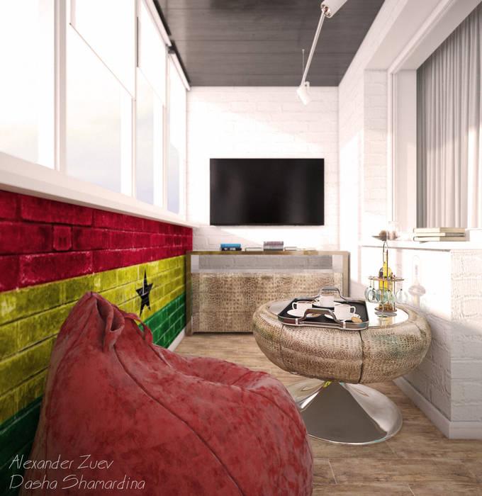 Студия интерьерного дизайна happy.design Balcones y terrazas de estilo moderno