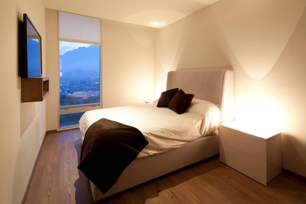 bedroom: Recámaras de estilo moderno por NZA