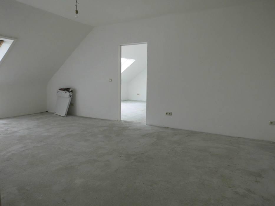 Wohn-/ Essbereich - vorher Industriale Wohnzimmer von raum² - wir machen wohnen Industrial