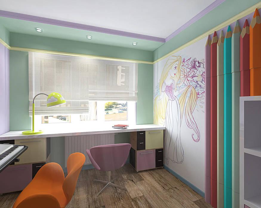 Minimalistyczny pokój dziecięcy od студия Виталии Романовской Minimalistyczny