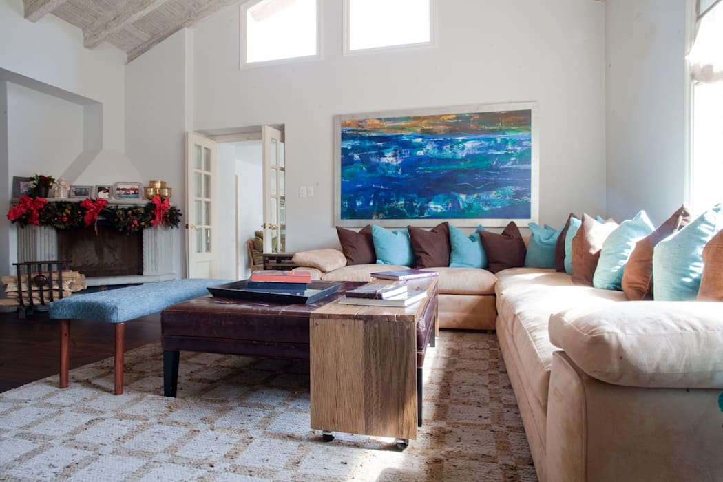 Eclectic style living room by Erika Winters® Design Eclectic