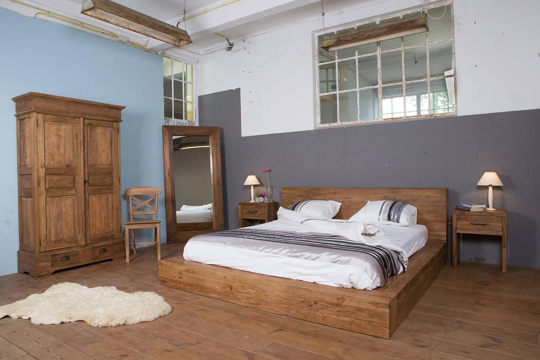 slaapkamer door teak wood
