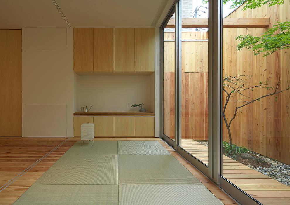 House of Nishimikuni Modern Living Room by arbol Modern