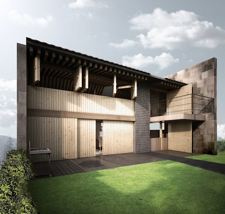 de estilo industrial por gOO Arquitectos, Industrial