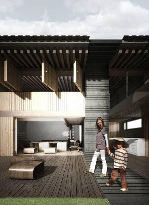INTEGRACIÓN DEL INT CON EL EXT: Jardines de estilo  por gOO Arquitectos