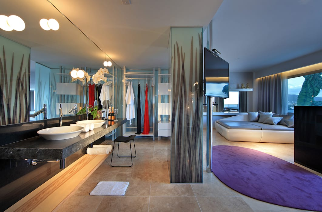 vidrio serigrafiado: Hoteles de estilo  de Replicalia