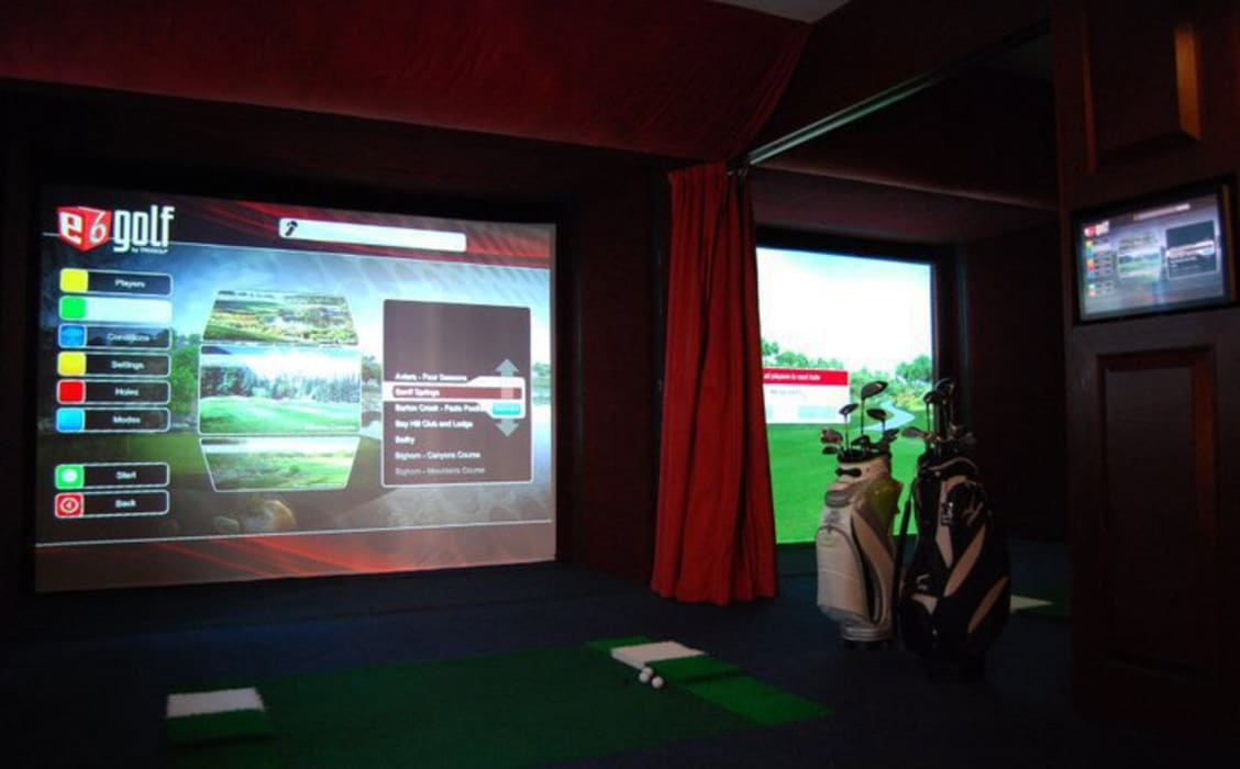 Golf Simulator Area:  Spa by Oui3 International Limited