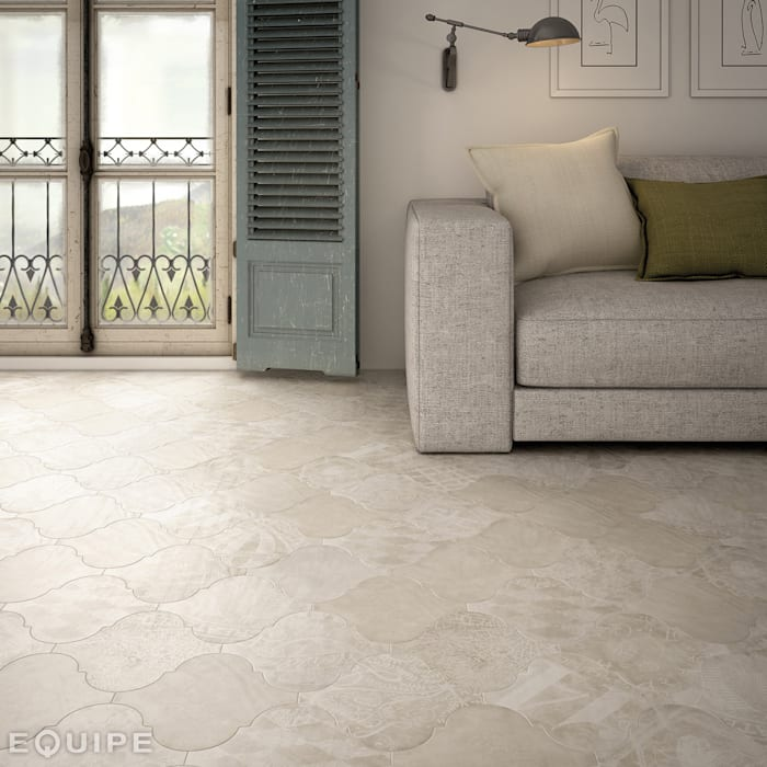 Curvytile Cotto Cinder Chalk 26,5x26,5 Paredes y suelos de estilo mediterráneo de homify Mediterráneo