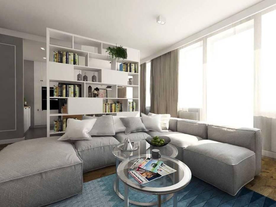 Apartament w centrum Krakowa: styl , w kategorii Salon zaprojektowany przez MONOstudio