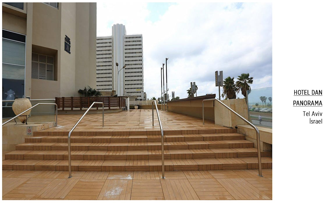 Plaza Yapı Malzemeleri – Dış Mekan & Merdiven, Basamak:  tarz Oteller