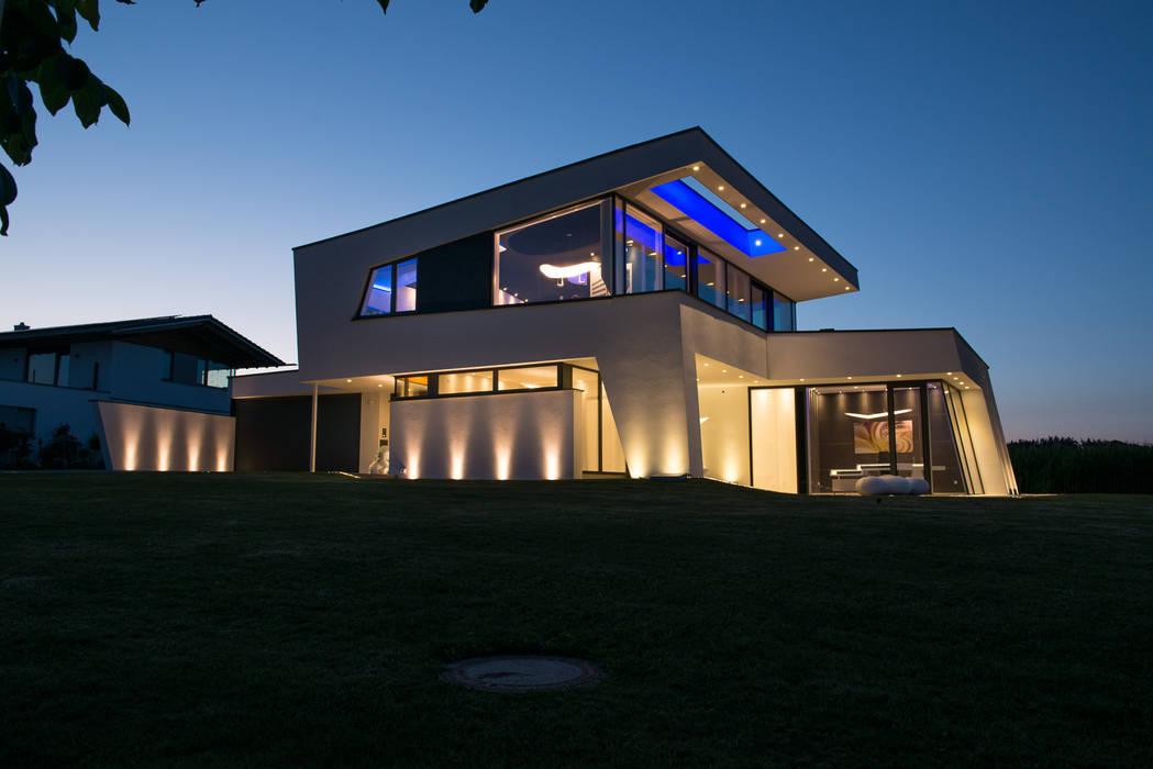 Architektenhaus mit Pultdach Moderne Häuser von homify Modern