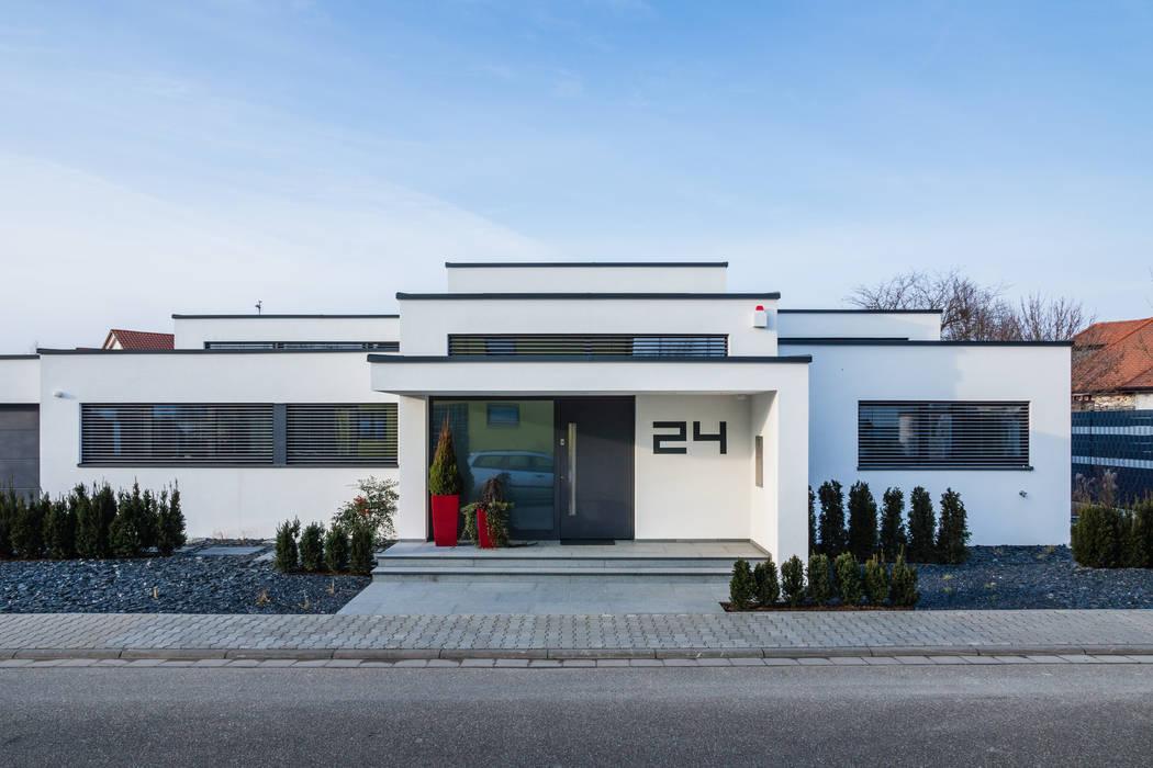 Kaskadenhaus - Einfamilienwohnhaus in Bürstadt Moderne Häuser von Helwig Haus und Raum Planungs GmbH Modern