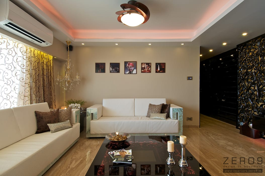 Living Room:  Living room by ZERO9