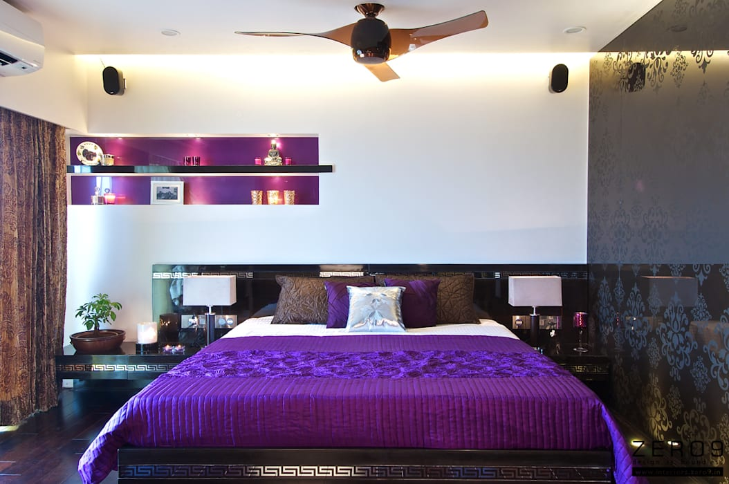 The Master Suite:  Bedroom by ZERO9