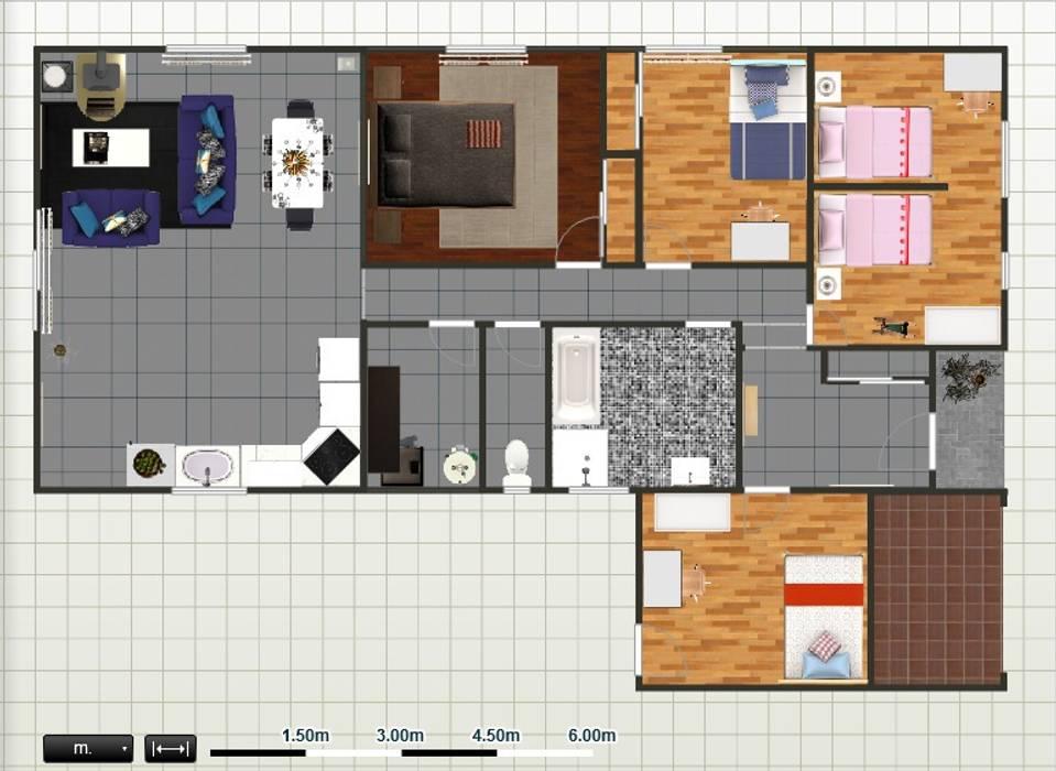 Plan 2D, Maisons modernes par Adriana Art Déco Moderne
