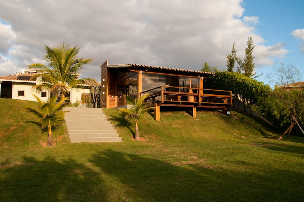 Casas de estilo  por NATALIE TRAMONTINI ARQUITETURA E INTERIORES, Rural