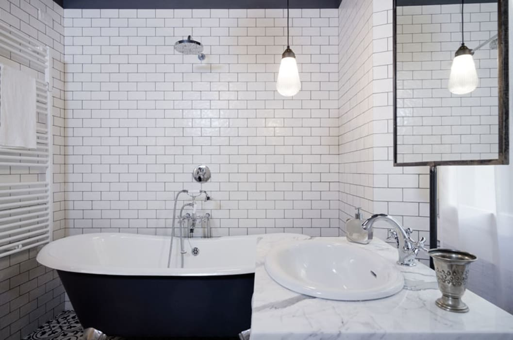 Industrial style bathroom by NOMADE ARCHITETTURA E INTERIOR DESIGN Industrial