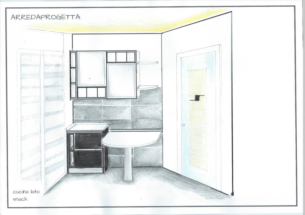 Progetto cucina Case moderne di Arreda Progetta di Alice Bambini Moderno