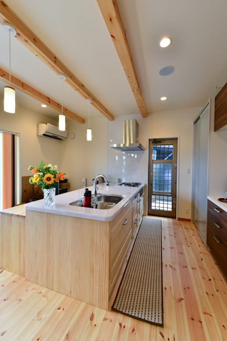 スクエア建築スタジオ Modern kitchen