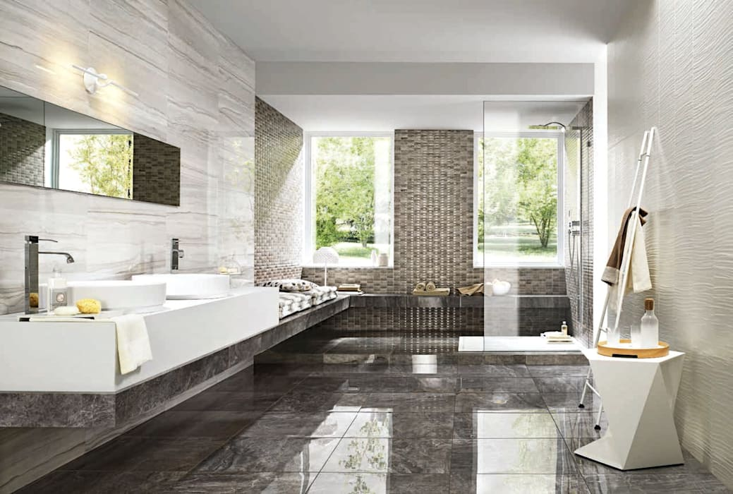 Mermer Seramik Modern Banyo Plaza Yapı Malzemeleri Modern