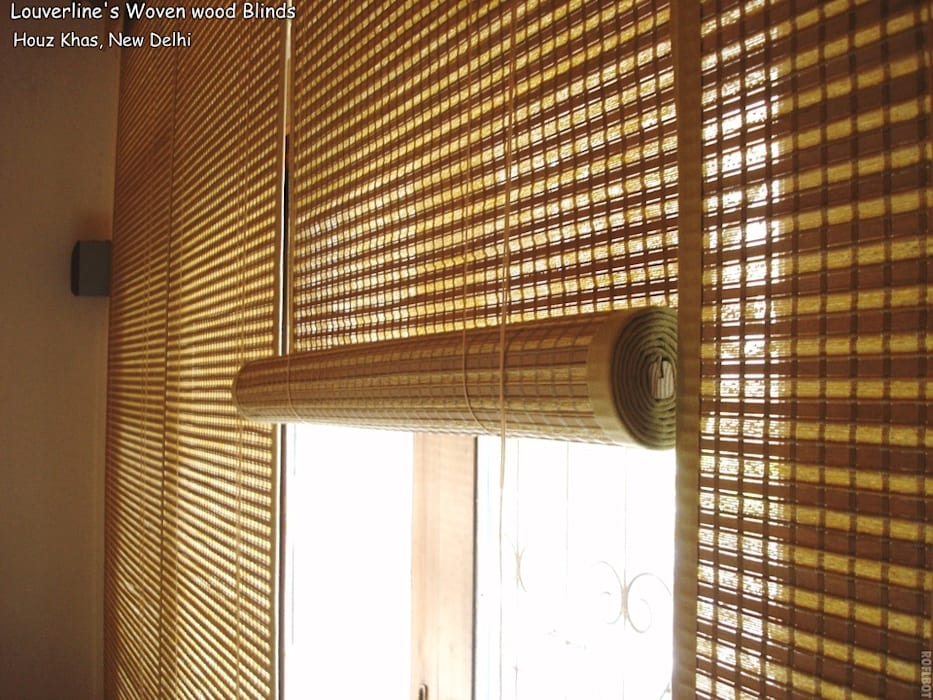 Natural Shades, Woven wood Blinds:   by Louverline Blinds,