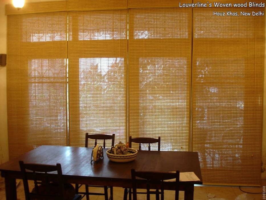 Woven Wood Blinds, Natural Shades:   by Louverline Blinds,