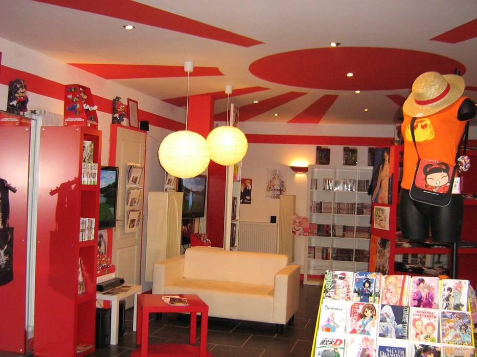 le temple du manga: Locaux commerciaux & Magasins de style  par ArchiCarton