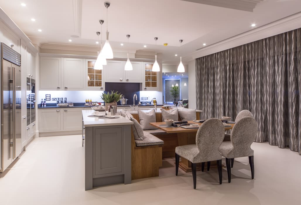 Flairlight Project 1 Oxshott, Tudor House:  Kitchen by Flairlight Designs Ltd