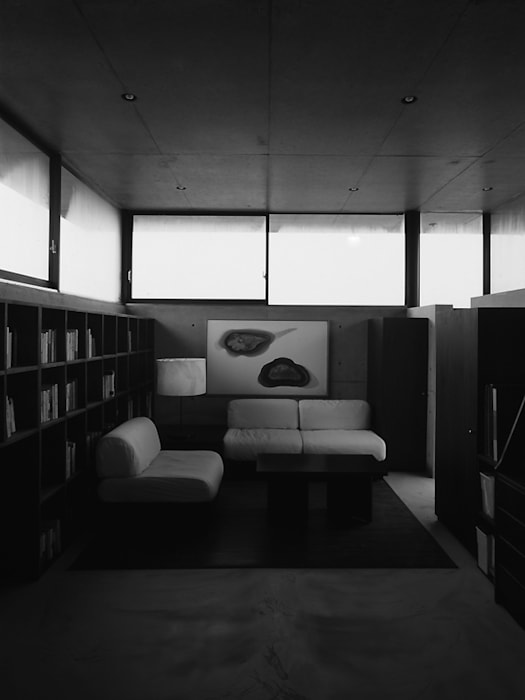 House in Yatakayama 藤本寿徳建築設計事務所 Modern Media Room