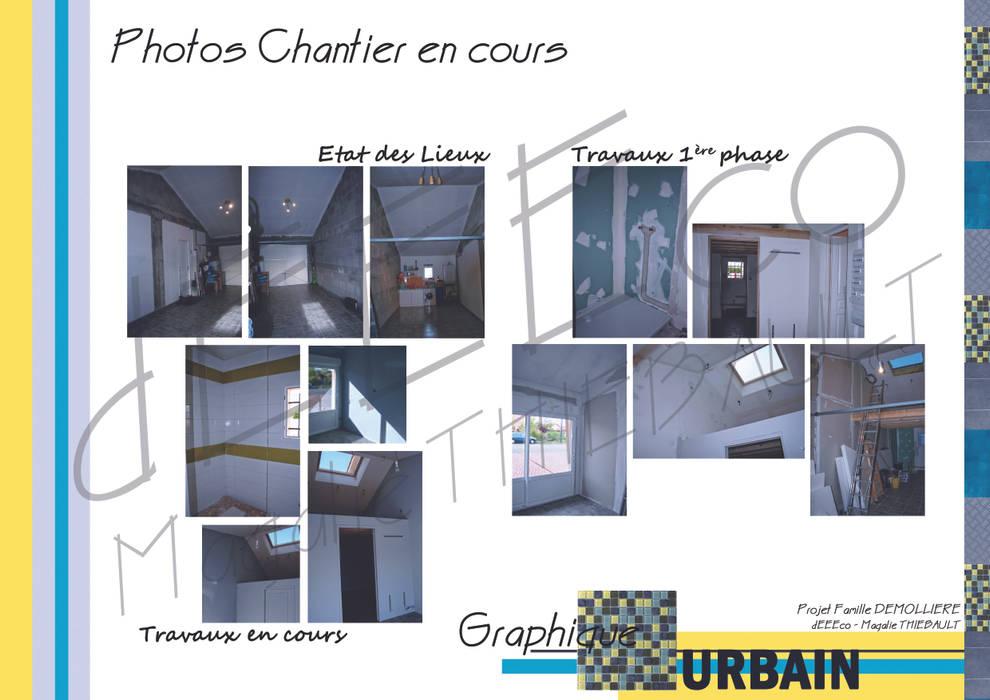 """Salle de Jeux """"Graphique Urbain"""": Salle multimédia de style  par dEEEco"""