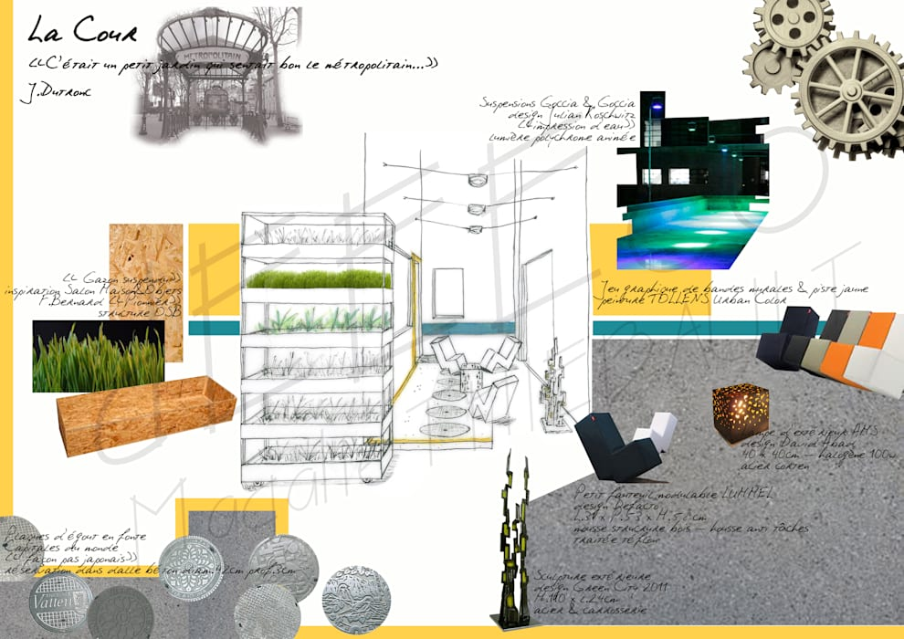 """Appartement """"Résolument Masculin"""": Jardin de style de style eclectique par dEEEco"""