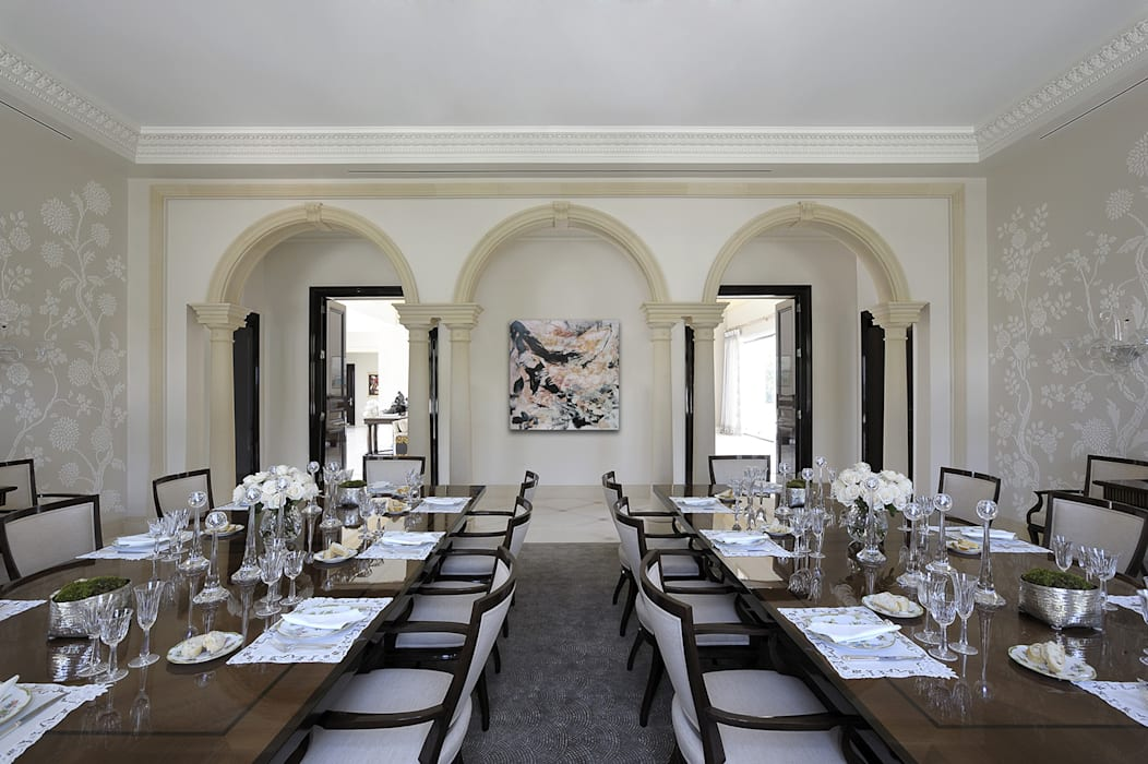 Residenza privata - Palm Beach, Florida - Dining room:  in stile  di Ti Effe Esse Interiors