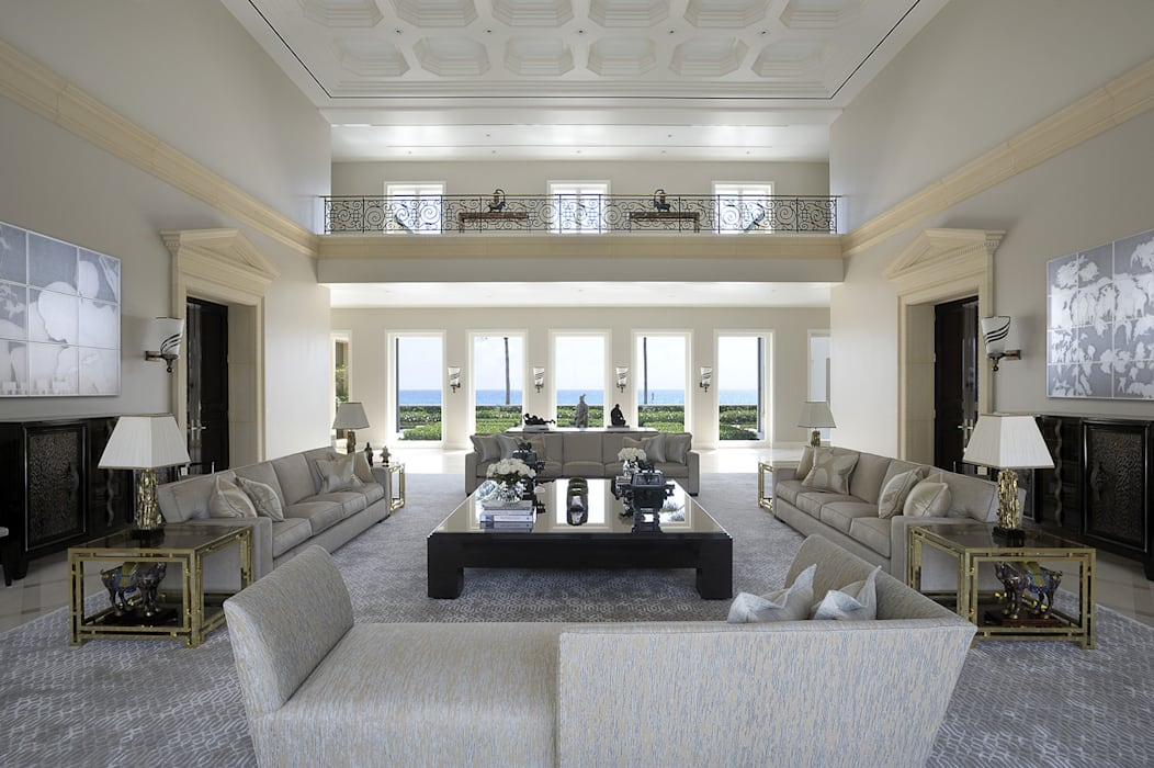 Residenza privata - Palm Beach, Florida - Main salon:  in stile  di Ti Effe Esse Interiors