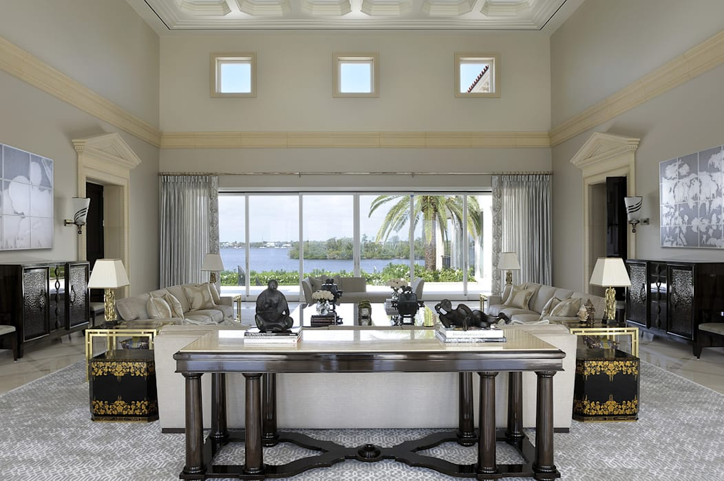 Residenza privata - Palm Beach, Florida - Main salon di Ti Effe Esse Interiors Moderno