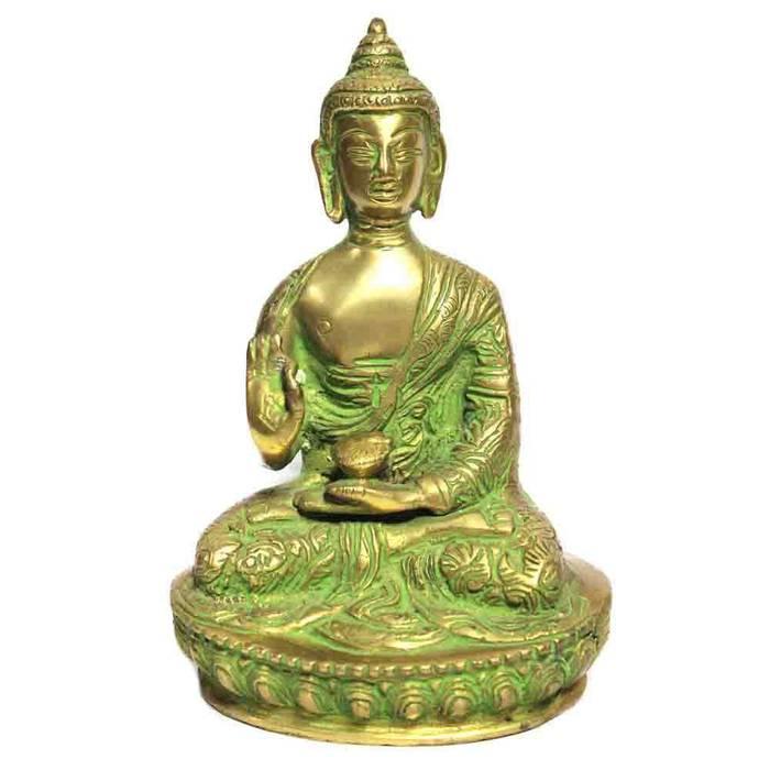 Lord Buddha With Child Brass Statue M4design 藝術品雕刻品