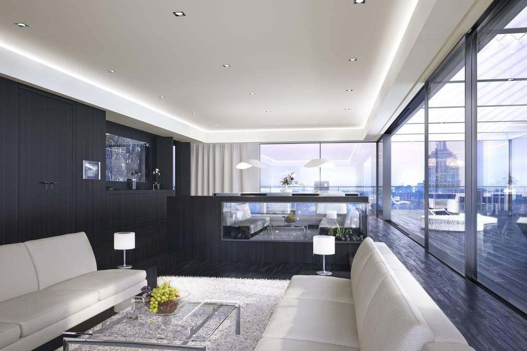 Luxus apartment new york moderne wohnzimmer von archlab.de ...