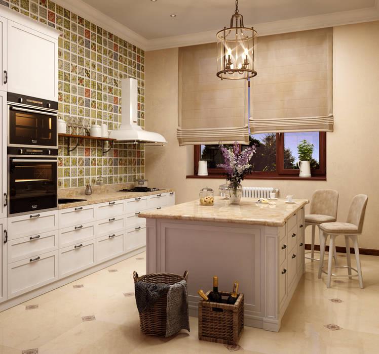 Дом в клубном посёлке Кухни в эклектичном стиле от Студия дизайна 'New Art' Эклектичный