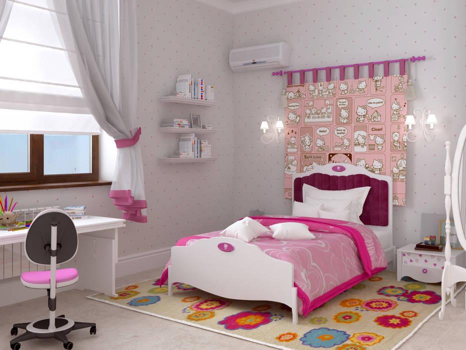 Дом в клубном посёлке Детские комната в эклектичном стиле от Студия дизайна 'New Art' Эклектичный