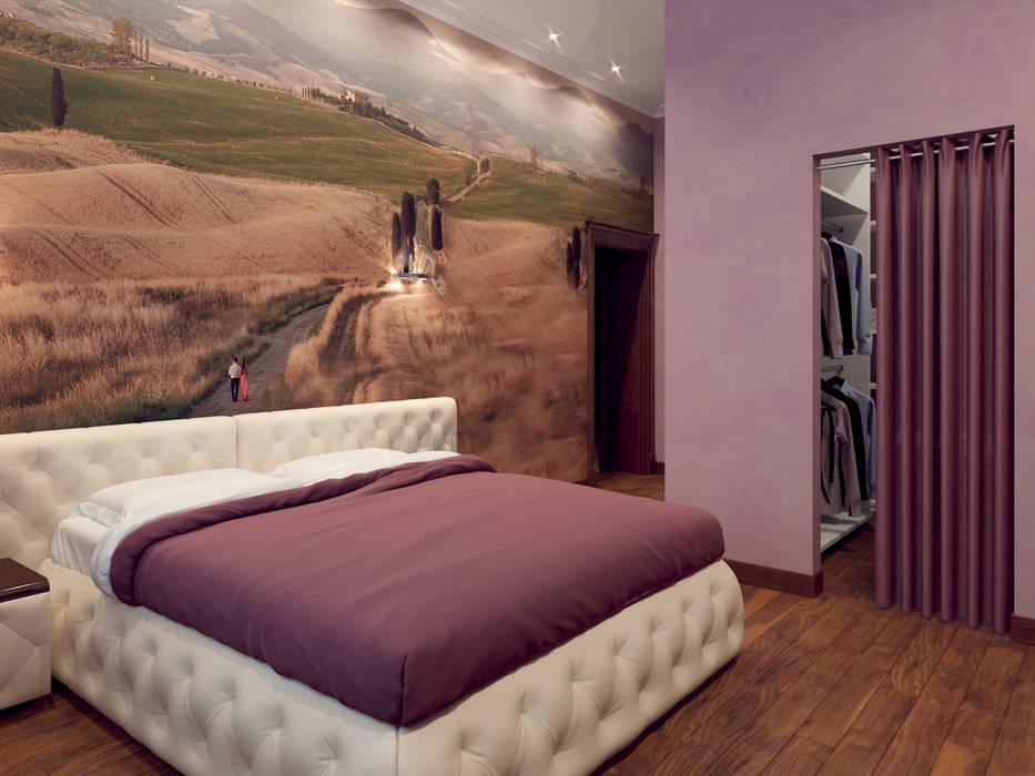 Дом в клубном посёлке Спальня в эклектичном стиле от Студия дизайна 'New Art' Эклектичный