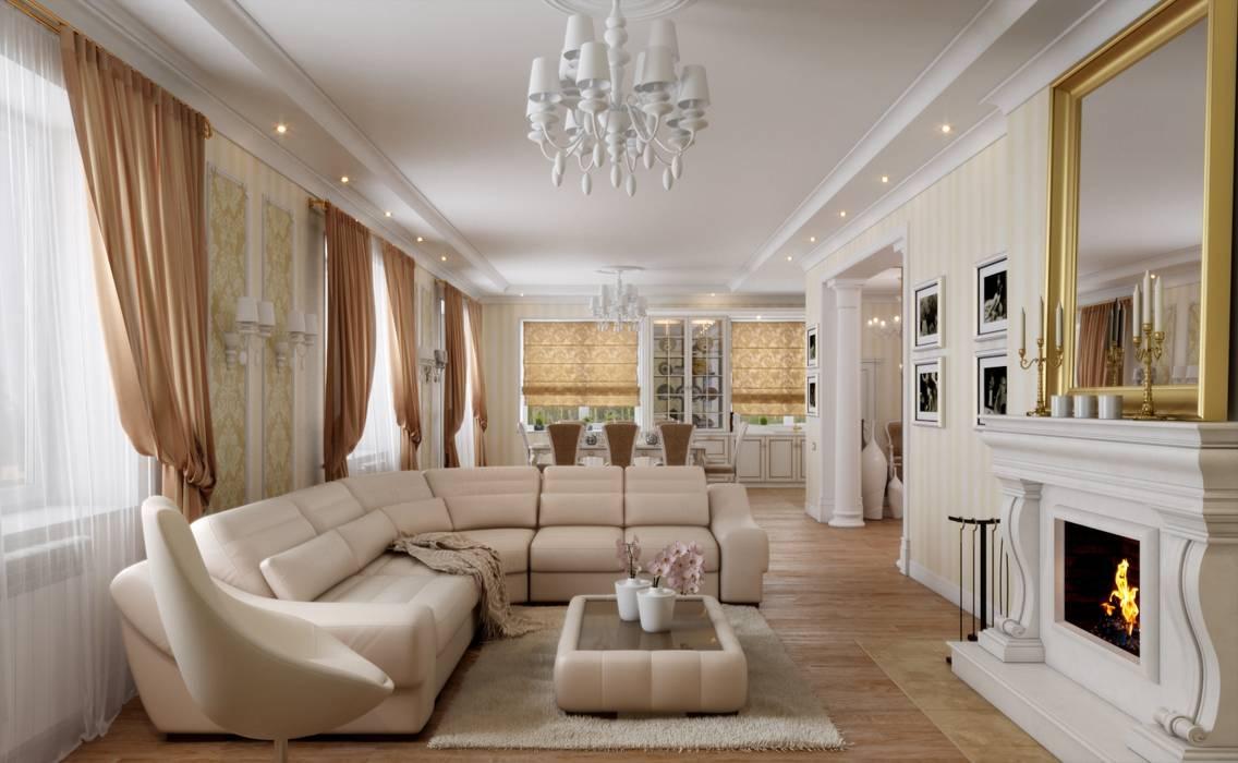 Дом в неоклассическом стиле Студия дизайна 'New Art' Гостиная в классическом стиле