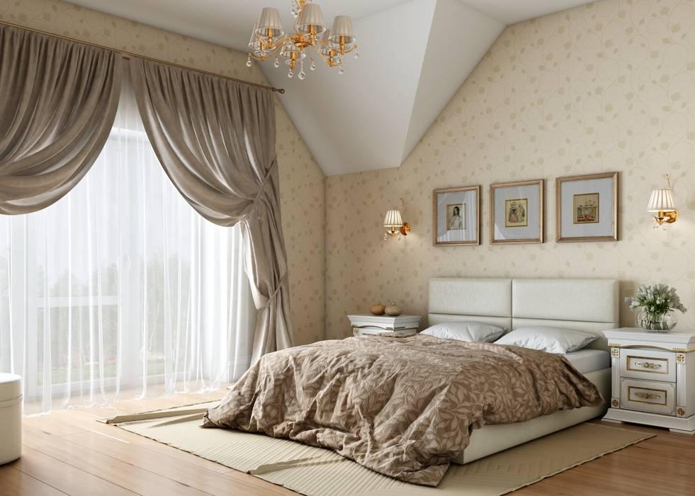 Дом в неоклассическом стиле Студия дизайна 'New Art' Спальня в классическом стиле